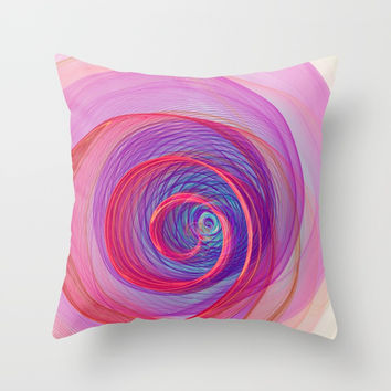 Ring Nebula Throw Pillow by Virtualkee