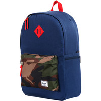Herschel Supply Heritage Plus Rubber-Strap Navy Camo Backpack