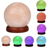 Night Light LED Crystal Carved Rock Table Lamp