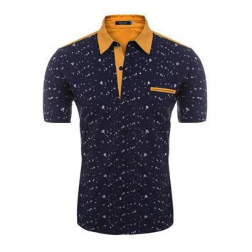 Short Sleeve Flower Print Casual Button Down Hawaiian Shirt Comes in Several Colors