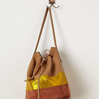 Anthropologie - Suede & Sparkle Bucket Bag
