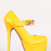 Sienna-01 Chain Mary Jane Stiletto Pump