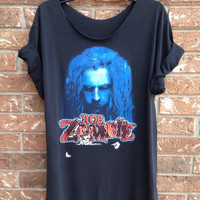 Rob Zombie grunge heavy metal cut t shirt ladies large