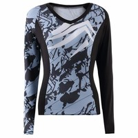 Women's Athletic Abstract Design Shirt by Womail