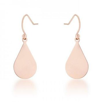 Karla Rose Gold Stainless Steel Teardrop Earrings (pack of 1 ea)