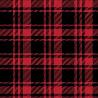 Black and Red Fall Plaid || the lumberjack fabric - littlearrowdesign - Spoonflower