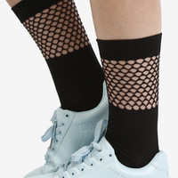 Mesh Detail Socks