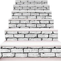 New 3D DIY PVC Waterproof  Stair Decals Wall  Floor Wall sticks  Sticker qs019