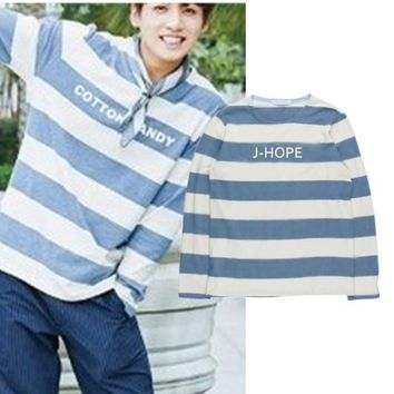 KPOP BTS Bangtan Boys Army home   Boys JUNGKOOK The Same spring and summer thin Suit long sleeve hoody Outerwears AT_89_10