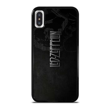 LED ZEPPELIN LYRIC iPhone X Case Cover