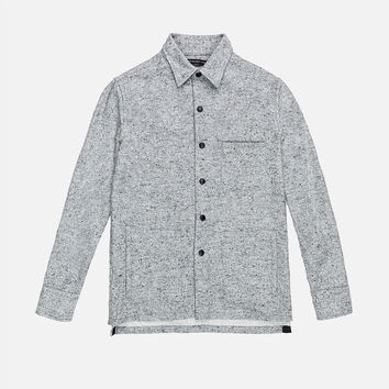 Snap Overshirt / Nep Grey Flannel