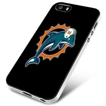 Miami Dolphins (logos on black) iPhone 5 | 5S | 5SE Case Planetscase.com