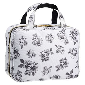 The Emily & Meritt Petit Rose Makeup Weekender Case
