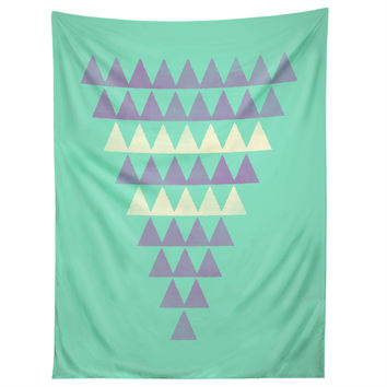 Allyson Johnson Purple Triangles Tapestry