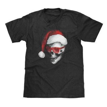 Santa Skull Christmas Shirt Available in Adult & Youth Sizes