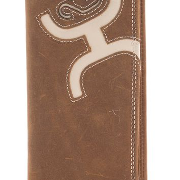 Hooey Men's Bone Inlay Rodeo Wallet