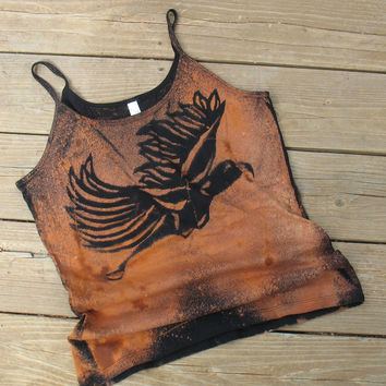 Tank Top Flying Bird Black Medium