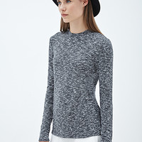 FOREVER 21 Marled Knit Pullover