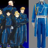 Roy Mustang's Squadron Cosplay Costume, Roy Costume, Fullmetal Alch Costume