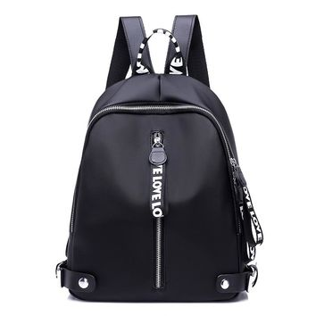 New 2017 Ribbon Nylon Oxford Backpack Female Colorful Letters Travel Backpacks for Women Casual Canvas Waterproof School Bag