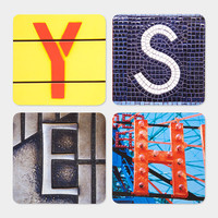 Alphabet City Coasters