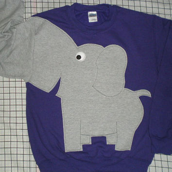 Elephant Trunk sleeve sweatshirt sweater jumper UNISEX S deep purple