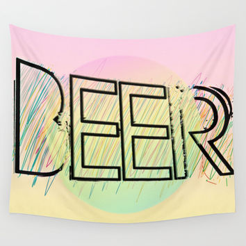 Beer! Wall Tapestry by Bunhugger Design