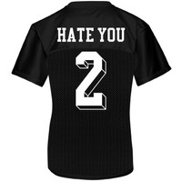 Yeah, Hate You Too: Custom Junior Fit Augusta Replica Football Jersey - Customized Girl
