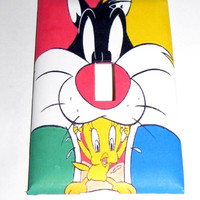 Light Switch Cover - Light Switch Plate Sylvester Tweety Bird Looney Tunes