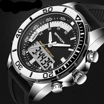 Hot Sale Men's Watch Brand Sport Diving LED Display Wristwatch Fashion Casual Rubber Strap Watch Men Montre Homme Relogio