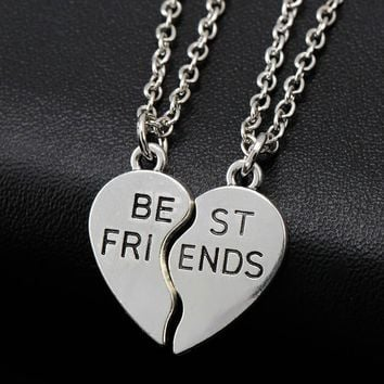 Friendship Broken Heart Parts Necklace For Women