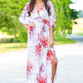 Blossom A Day White Floral Print Dress