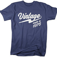Shirts By Sarah Men's Vintage Made In 1976 T-Shirt Retro Birthday Shirts