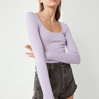 UO Sage Scoop-Neck Pullover Sweater | Urban Outfitters