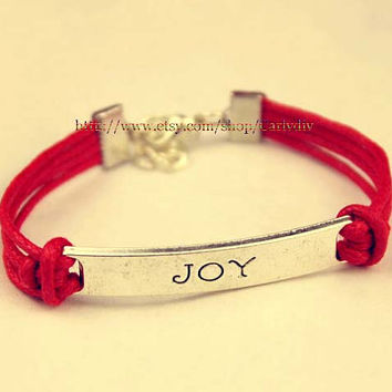"Wax rope ""joy"" Bracelet"
