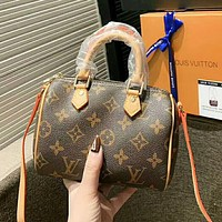LV Louis Vuitton Fashion New Monogram Print Shoulder Bag Handbag Women