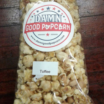 Butter Toffee Crunch Popcorn with Peanuts