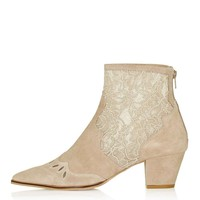 ALEGRA Lace Ankle Boot - Topshop