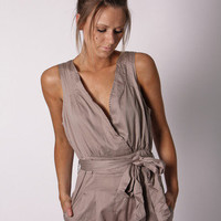 Esther Boutique - stevie jumpsuit- stone