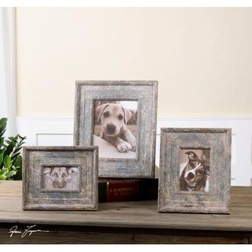 Uttermost Zana Distressed Photo Frames Set Of 3