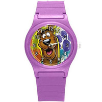 Scooby Doo Girls Purple Plastic Watch. [Watch]
