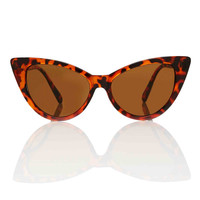 Nicky Brown Cat Eye Sunglasses