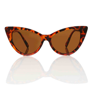 Nicky Tortoise Cat Eye Shades - Brown