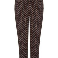 TALL Chevron Peg Trouser - Black