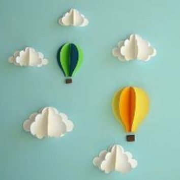 Floating in the Clouds  3D Wall Art by goshandgolly on Etsy