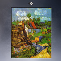 Houses at Auvers c1890 BY VAN GOGH By vincent Van Gogh print  Wall Painting picture Home Decorative Art Picture  Prints