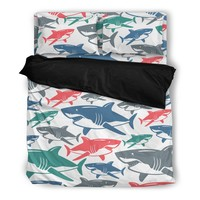 Shark Pattern Bedding Set