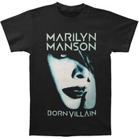 Marilyn Manson Men's  Born Villain Album Cover 2012 Tour T-shirt Black
