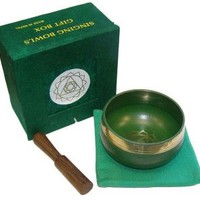 Tibetan Singing Bowl With Baton Gift Box - 3 inch - Various Colours