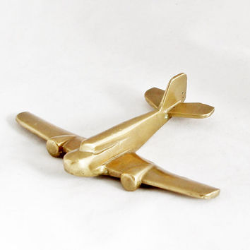 1950s Vintage Art Deco Airplane Aircraft Metal Plane